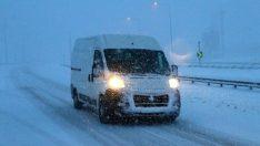 Bolu'da yoğun kar yağışı…