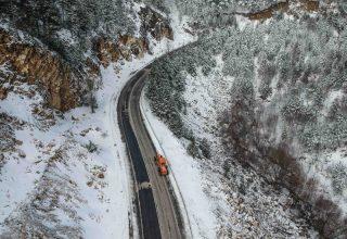 Domaniç Dağları'nın kar güzelliği…