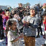 Antalya'da kar şenliği