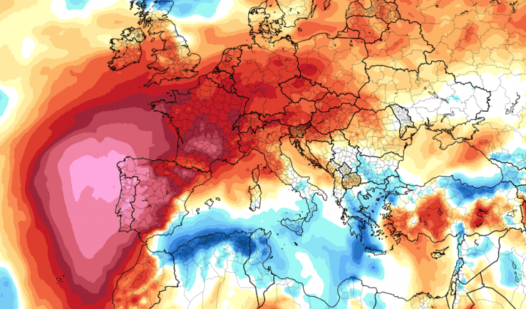 İspanya ve Portekiz'de 50 Derecelik Sıcak Hava!