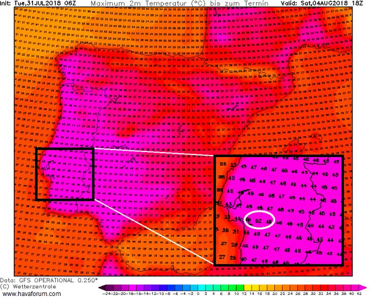 sicak-hava-gorunumu-min İspanya ve Portekiz'de 50 Derecelik Sıcak Hava! Haberler