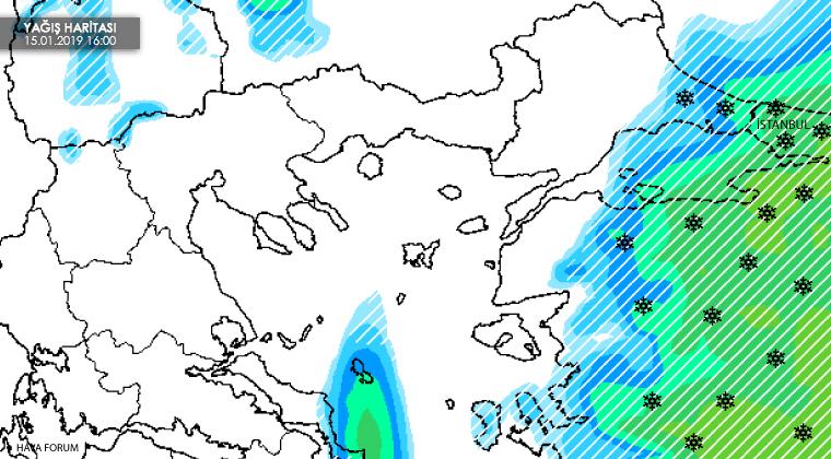 istanbul-kar-yagisi-haritasi İstanbul'a yine kar geliyor... Haberler
