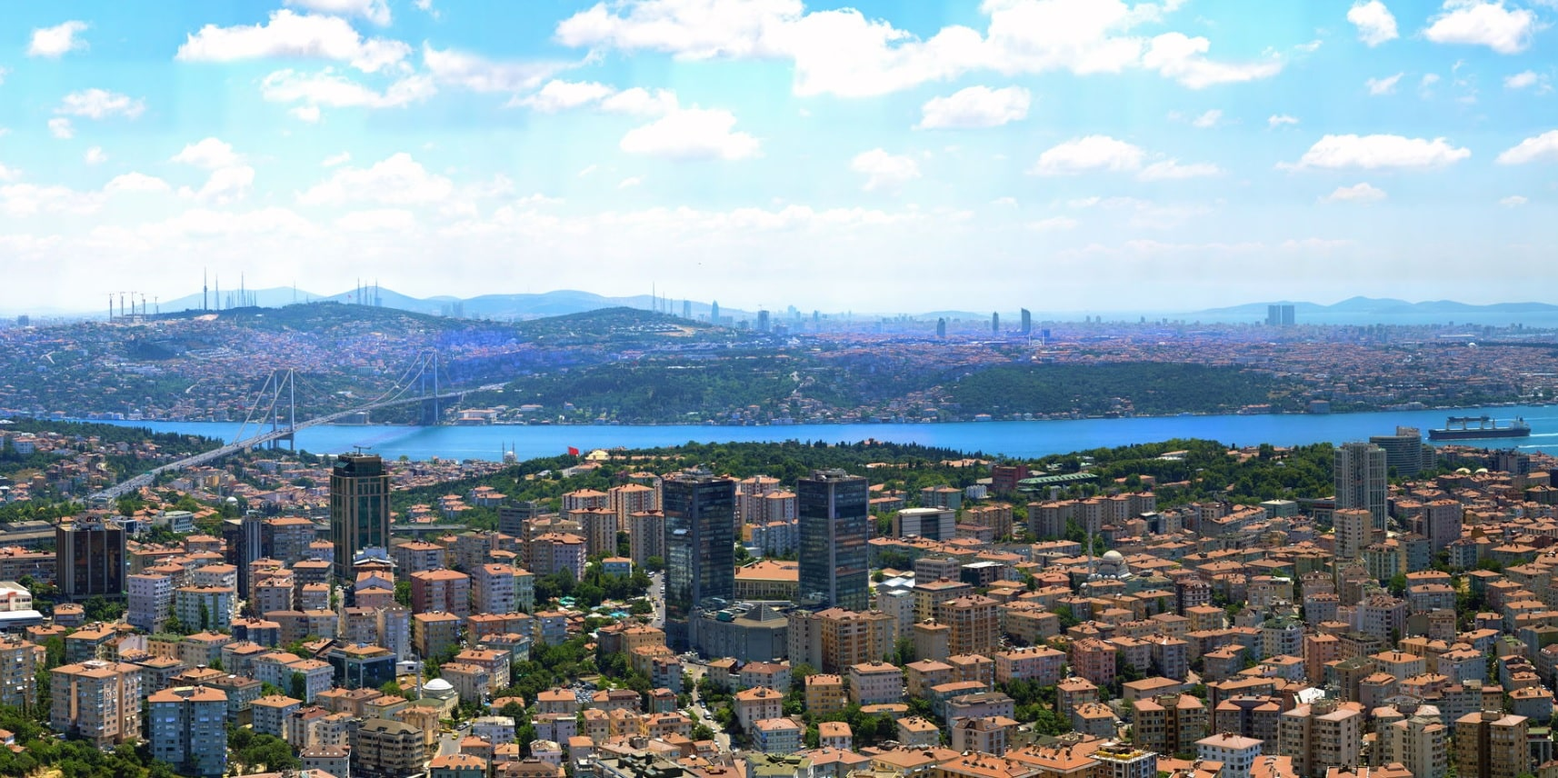 İstanbul'un 180 Derece Devasa Görüntüsü
