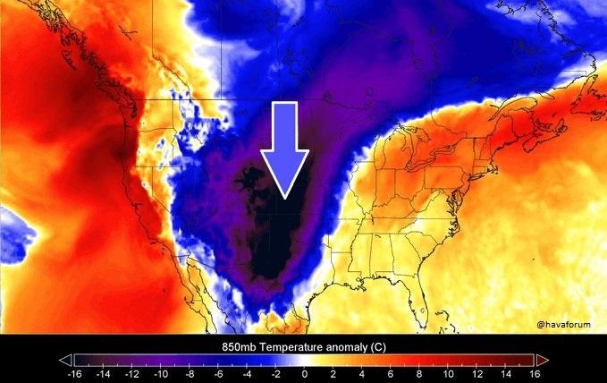 polar-vortex ABD'de Saatler İçinde 30 Derece Birden Sıcaklık Düşüşü Bekleniyor! Haberler